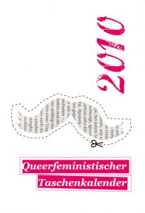 Cover des queer-feministischen Kalenders 2010 mit Schnurrbart zum Ausschneiden
