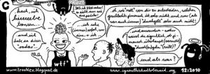 Panel aus einem Comic von Trouble X