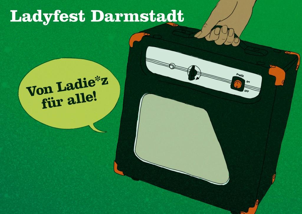 Ladyfest Darmstadt 2011 - Postkarte by Julia Veits
