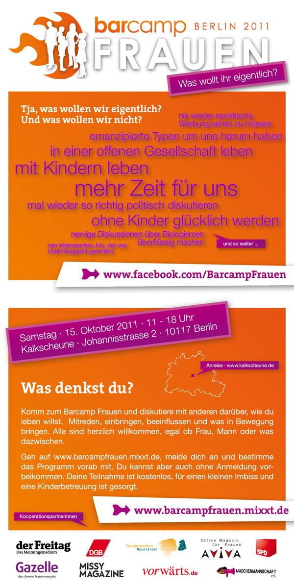 Flyer Barcamp Frauen
