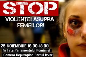 Plakat der Organistaion FILIA: Das Gesicht einer jungen blonden Frau mit einem großen Bluterguss auf der Wange