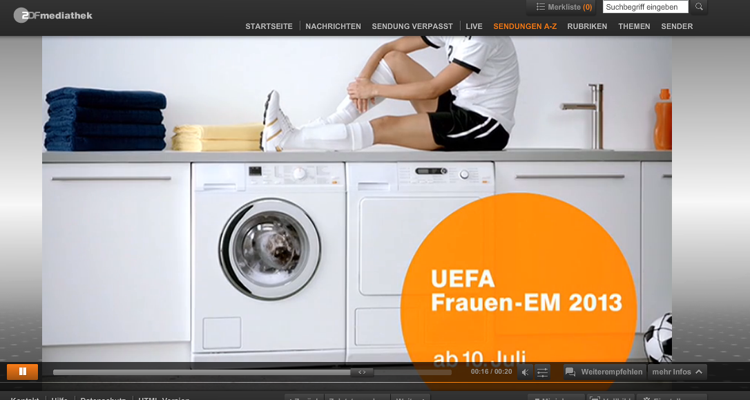 Screenshot zdf.de