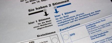 Bild eines Wahlzettels