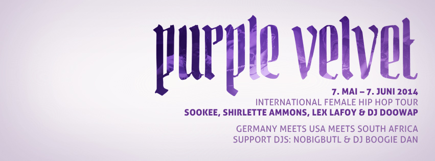 purple velvet hip hop tour flyer