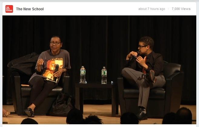 bell hooks und Marci Blackman während der Diskussion (Screenshot)