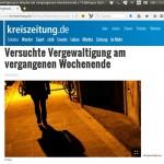 Screenshot Kreiszeitung, Feburar 2013.