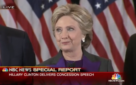 Screenshot: Hillary Clinton's Full Concession Speech | NBC News