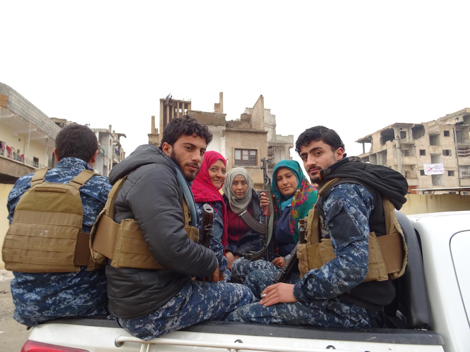Die Selbstverteidigungskräfte der neu befreiten Gebiete SDF