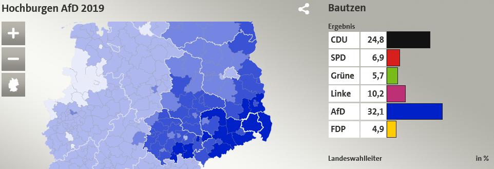 Auszug aus der Wahlergebniskarte zur Europa-Wahl von tagesschau.de