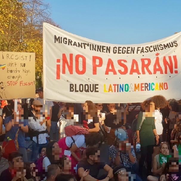 #unteilbar - Oktober 2018 in Berlin: ¡No Pasarán! Migrant*innen gegen Faschismus